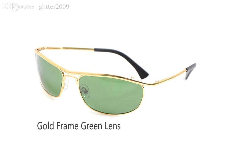 Gold Frame Green Lens