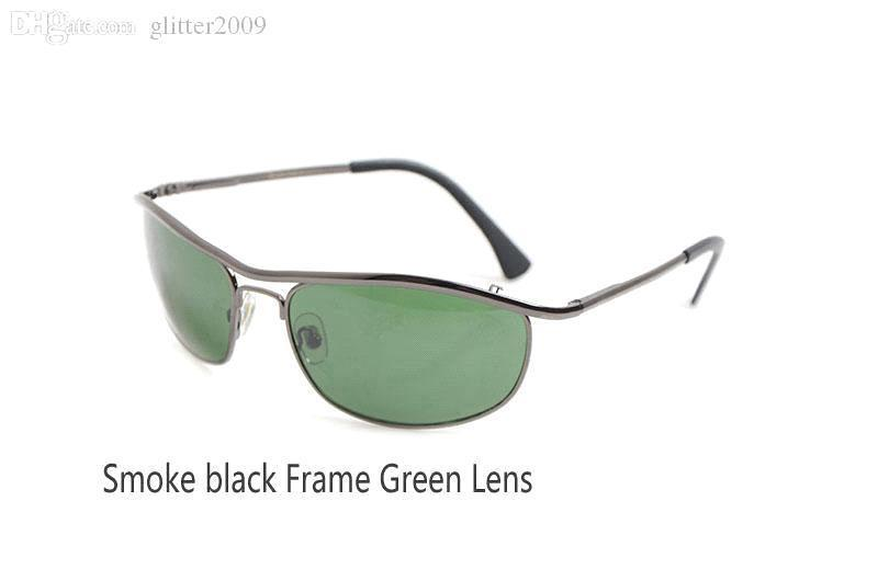 Smoke black Frame Green Lens