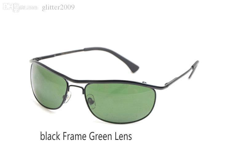 black Frame Green Lens