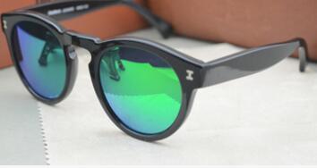 noir lentille verte