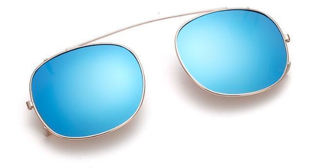 Moldura de ouro Ice blue lens size S
