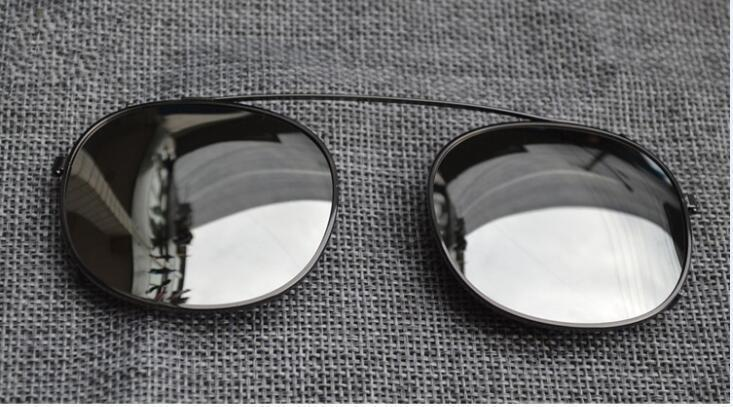 Tamanho de lente de mercúrio de prata moldura preta S