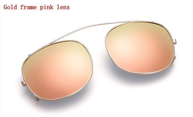 Moldura de ouro Lentes de mercúrio rosa L