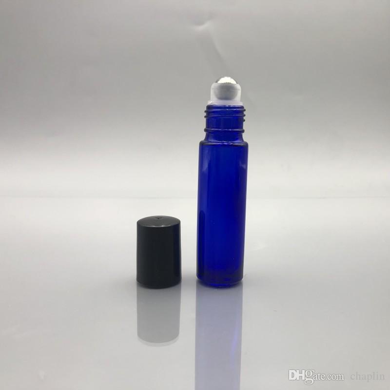 Black Cap + Blue Bottle + Metal Roller