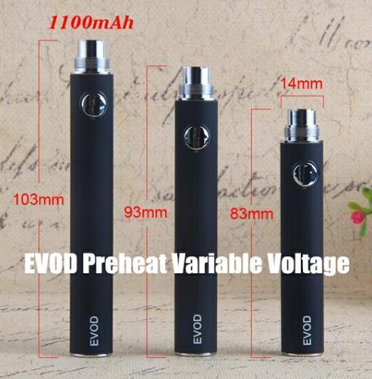 EVOD Preheat Variable Voltage 1100 mAh