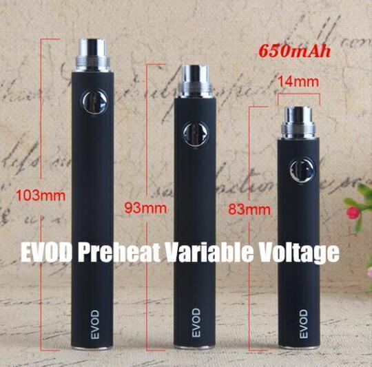 EVOD Preheat Variable Voltage 650 mAh