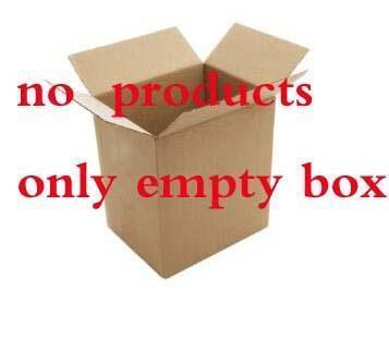 seule boîte d'emballage vide