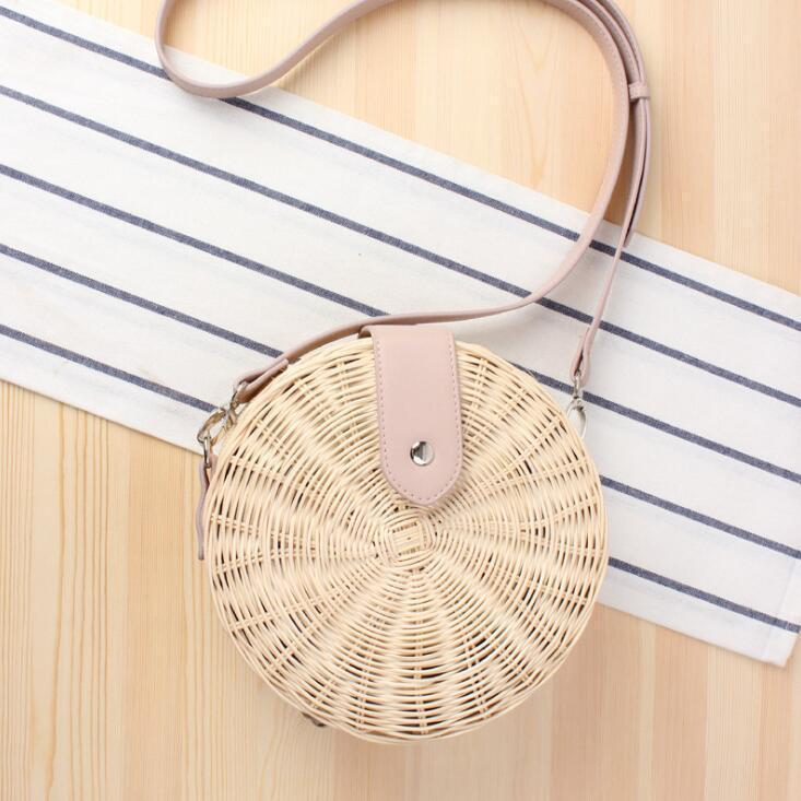 Beige(Pink shoulder strap)