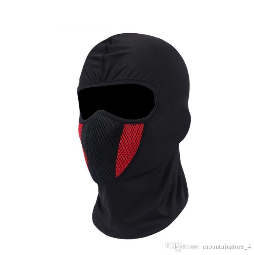 Designer Cotton Balaclava Motorcycle Motorbike Textile Helmet Head Cover Black