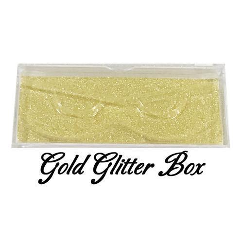 Gold glitter box