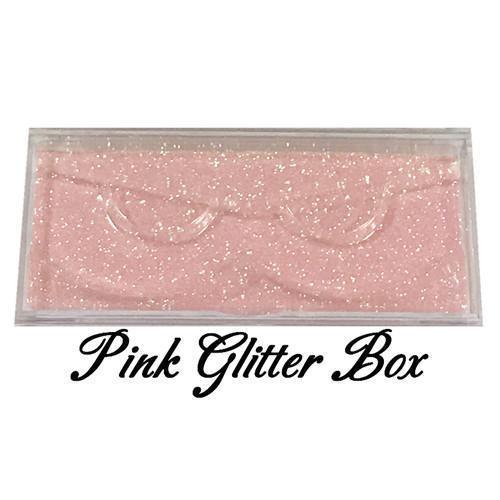 Pink glitter box