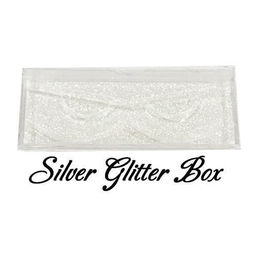 Silver glitter box