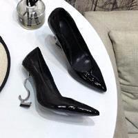 Черный + серебряный каблук