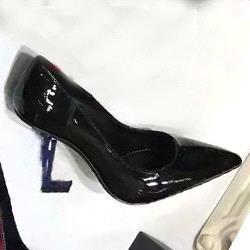 Черный + синий каблук