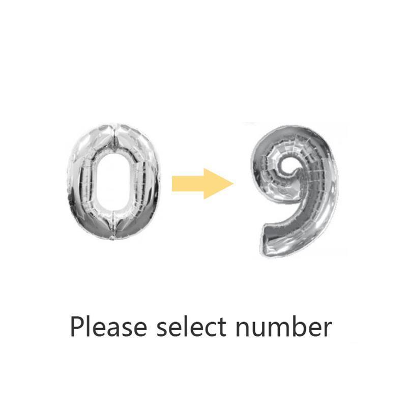 Argent / Numéro numéro 0-9