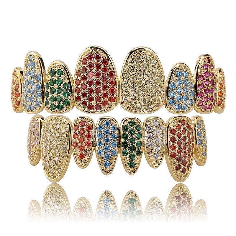 Chapado en oro de 18 quilates + multicolor
