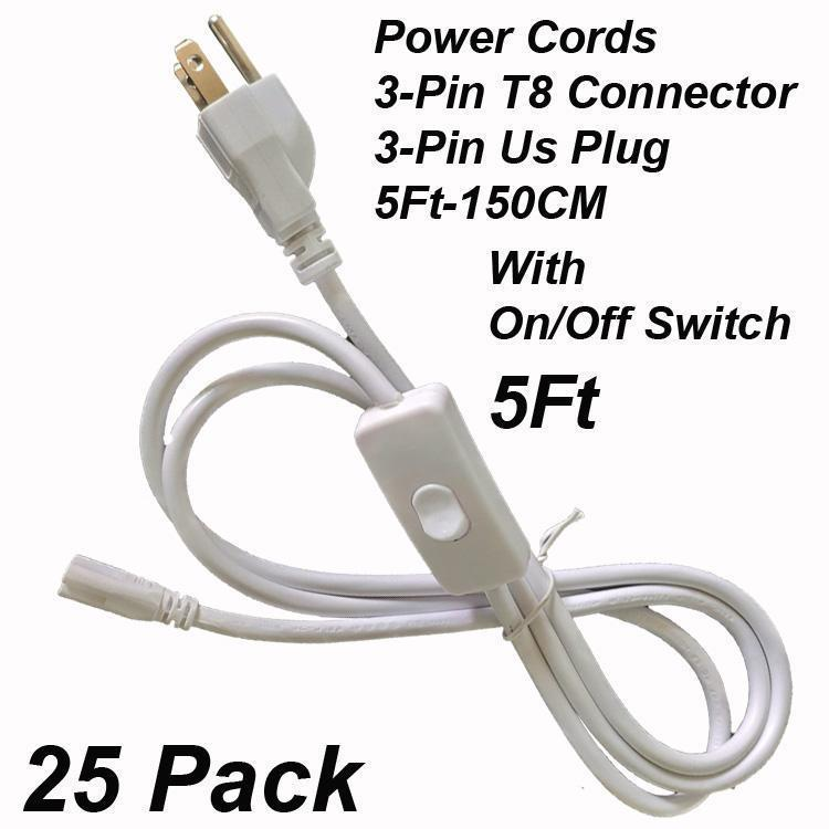 3Pin 5Ft Power Cords With Switch