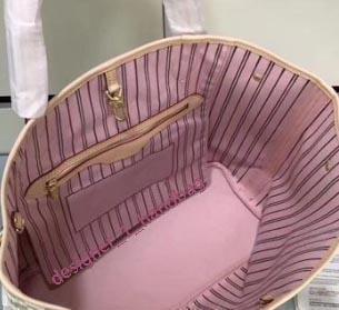 الأبيض منقوشة الوردي الداخلية