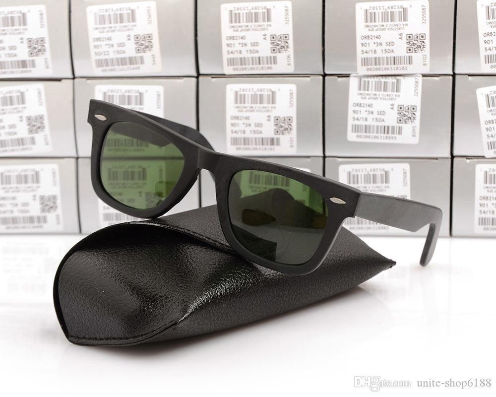 Matte Black Frame Green Lens 50MM