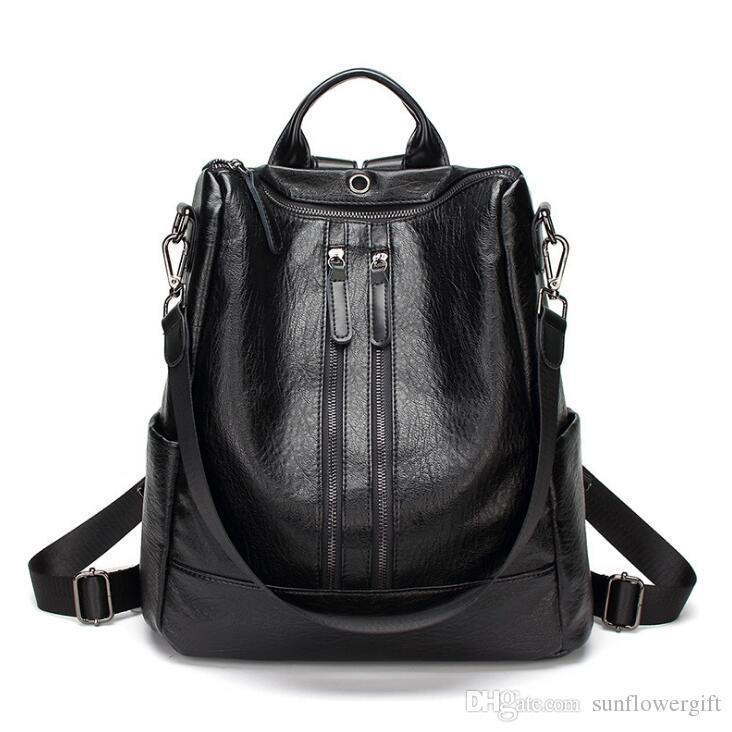 Black-double zipper