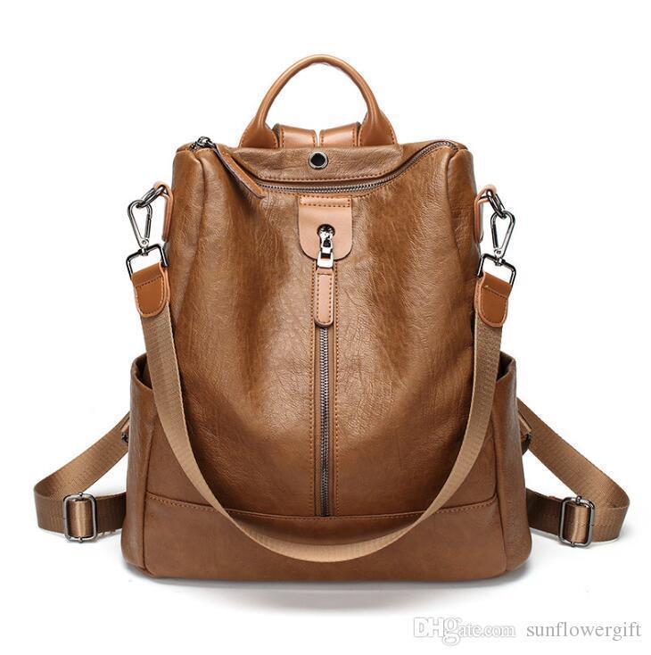 Brown-single zipper