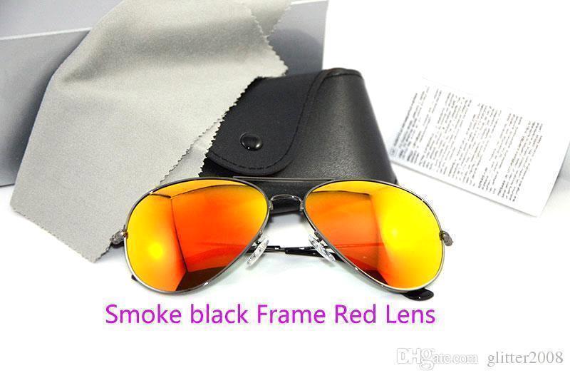 دخان أسود عدسة الإطار الأحمر