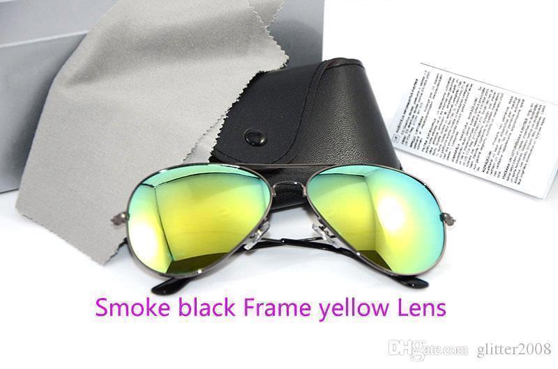دخان أسود الإطار الأصفر عدسة