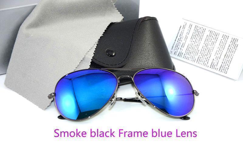 دخان الإطار الأسود عدسة زرقاء
