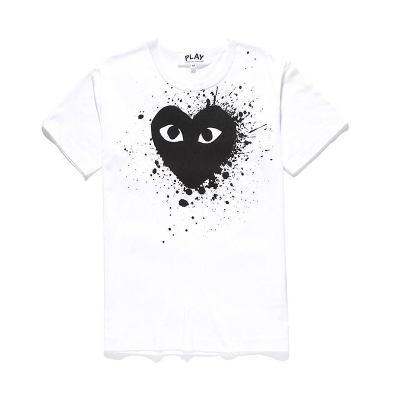 Weißes schwarzes Herz