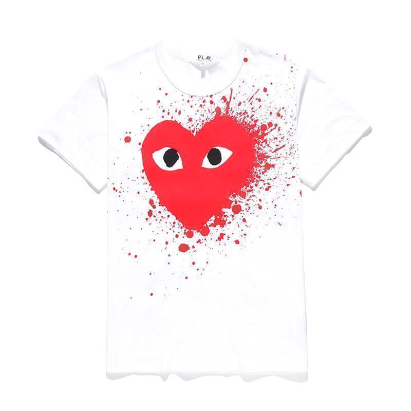 Weiß Rotes Herz