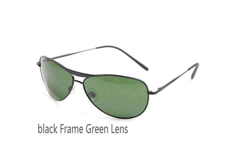 Siyah Çerçeve Yeşil Lens