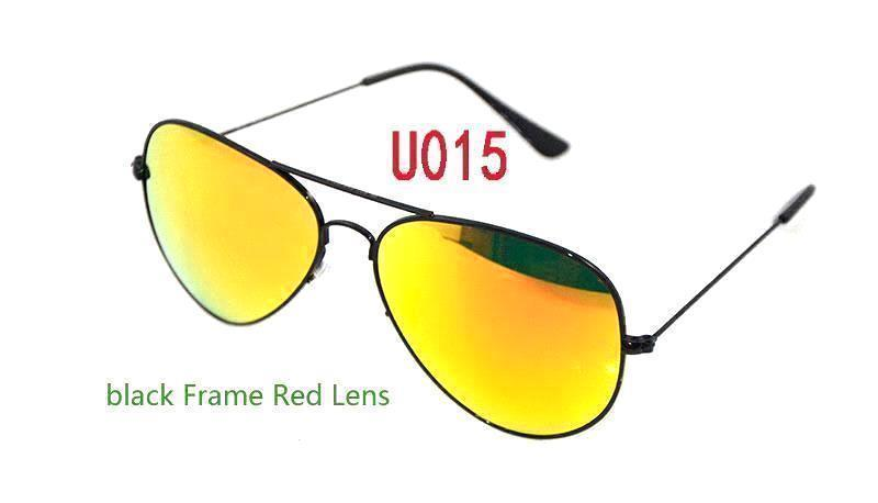 black Frame Red Lens