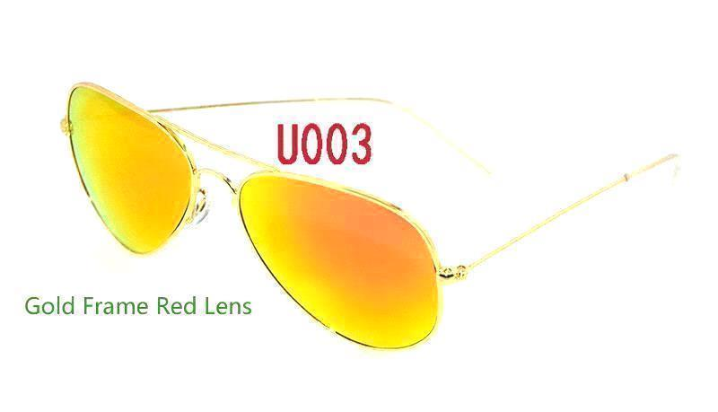 Gold Frame Red Lens