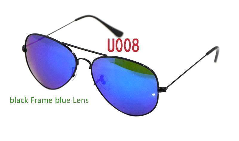 black Frame blue Lens