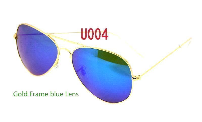 Gold Frame blue Lens