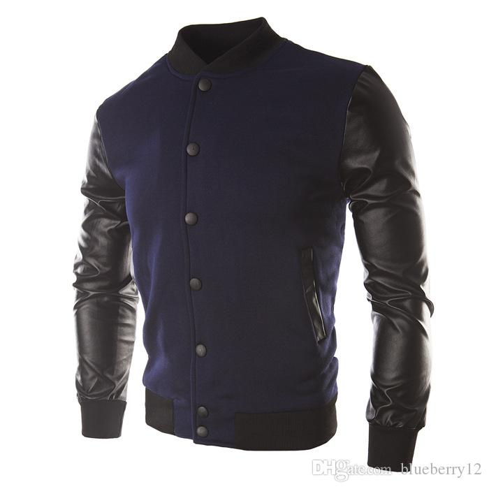 New Autumn Fashion Style Pachwork Men`s Jacket Coat Casual Sweatshirt Hoodie Coat Jacket Brand Baseball Jacket