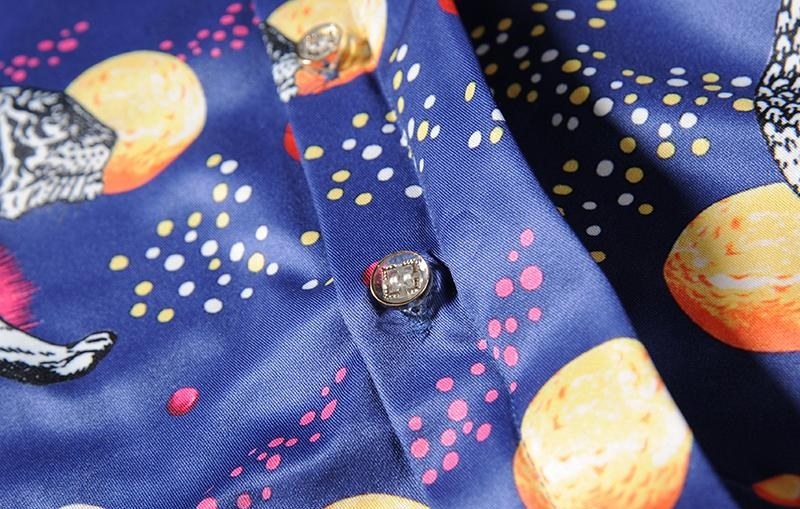 Men shirt long sleeve designer casual shirts mens brand clothing shirt imported blue tiger shirt D30