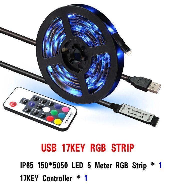 Controlador 17KEY 5M RGB 150LEDs IP65