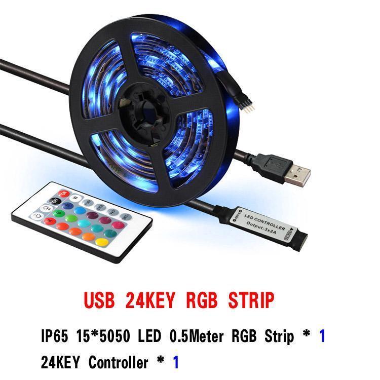 Controlador 24KEY 50 centímetros RGB 15LEDs IP65