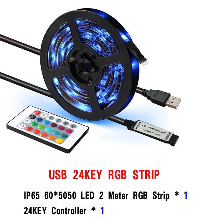 Controlador 24KEY 2M RGB 60LEDs IP65