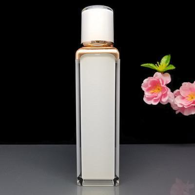 50ML blanc flacon pompe airless crème