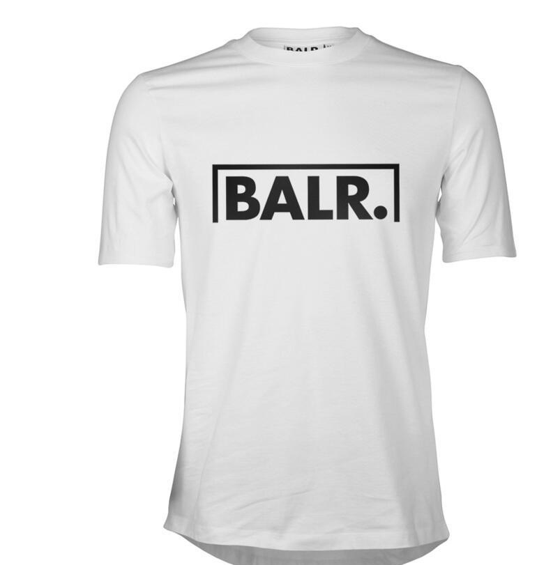 Balr mens classic t shirt black cotton short sleeve BALR streetwear tee shirts round bottom blouse O-neck t shirt brand clothing summer D20