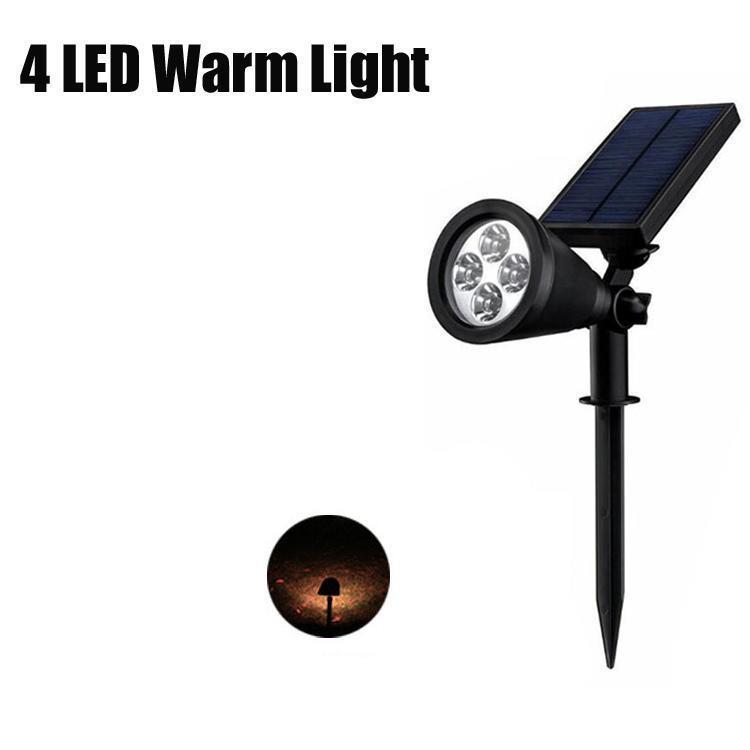 4 luz quente LED