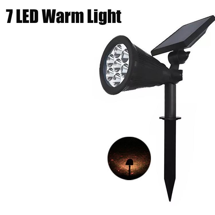 7 luz quente LED