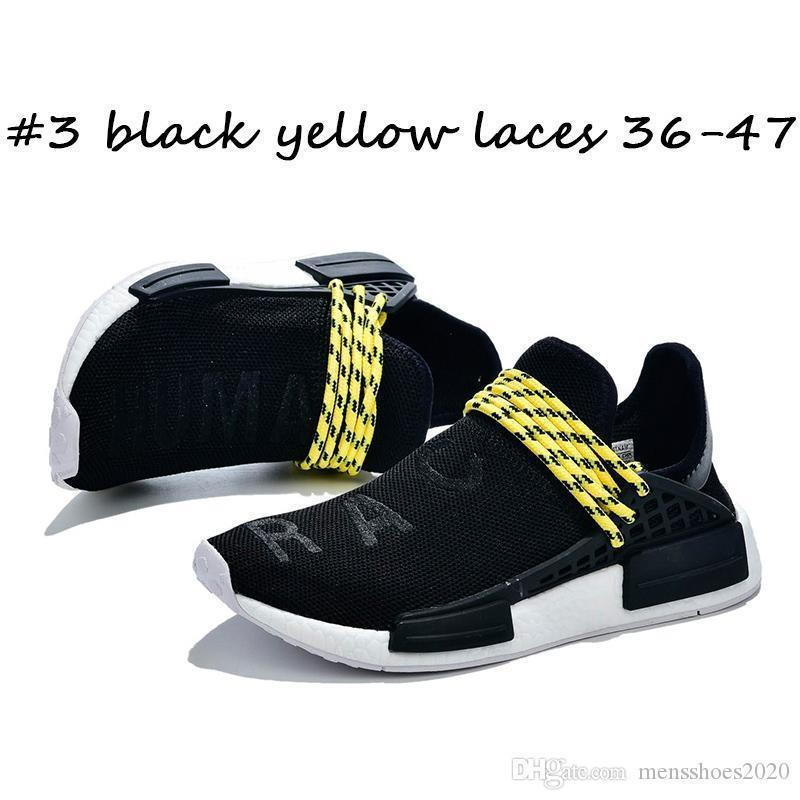 #3 black yellow laces 36-47