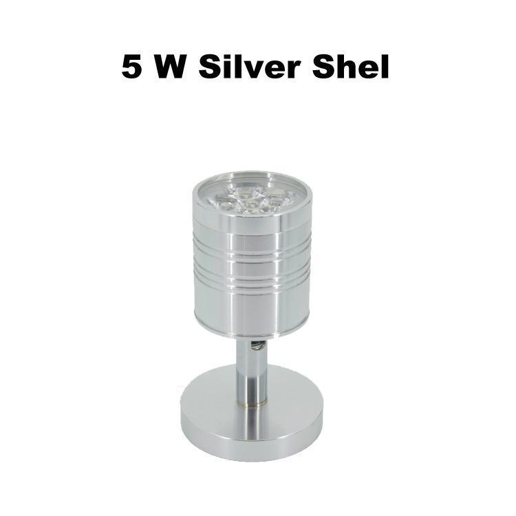 5 W Shell Argento