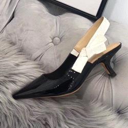 Black + bright leather [6cm]