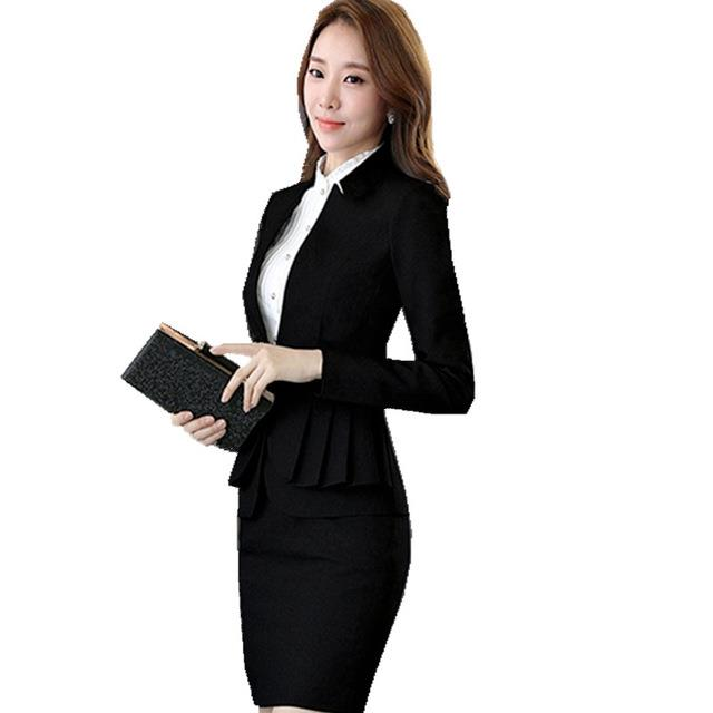 black skirt suits