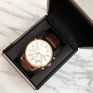 Leather band: Rose Brown white dial