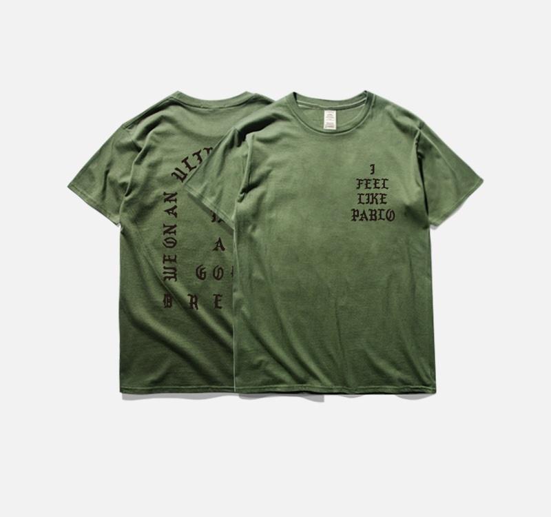 Fashion Mens T Shirt Season3 i feel like pablo Tee short Sleeves O-neck T-Shirt Kanye West Letter Print Tshirt